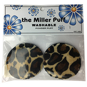 THE MILLER PUFF WASHABLE POWDER PUFF LEOPARD 9791