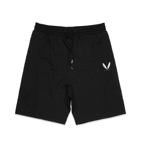 Feather Logo Sweat Shorts - Black