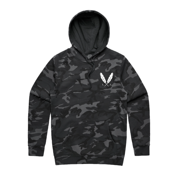 Camo Feather Logo Hoodie