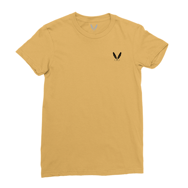 Feather Logo T-Shirt (W) - Mustard