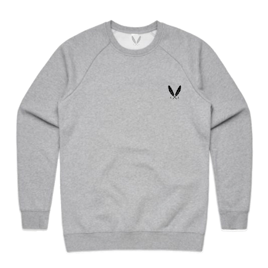 Feather Logo Crew Sweater - Athletic Grey