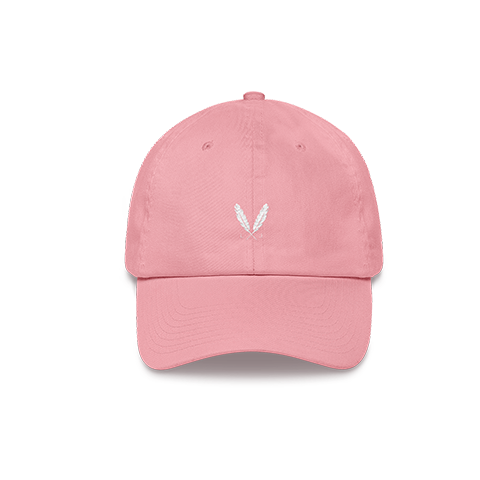 Feather Logo Dad Hat - Pink - Laced Legacy Online