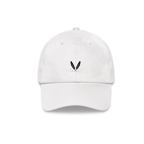 Feather Logo Dad Hat - White - Laced Legacy Online