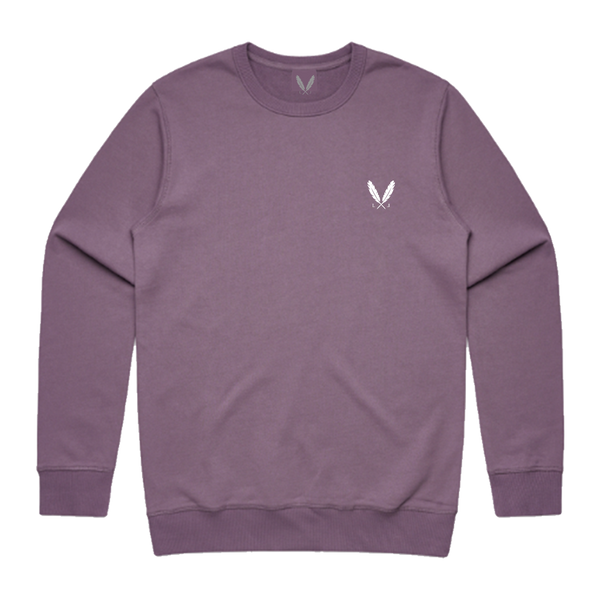 Feather Logo Crew Sweater - Mauve