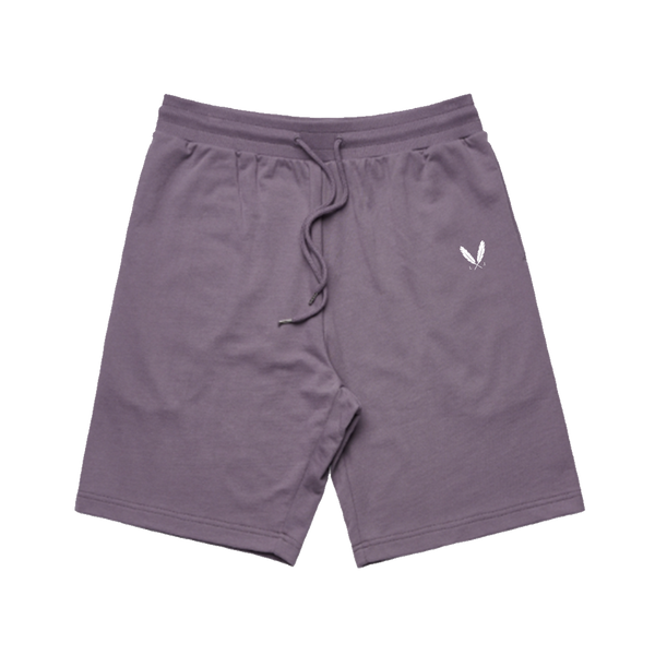 Feather Logo Sweat Shorts - Mauve