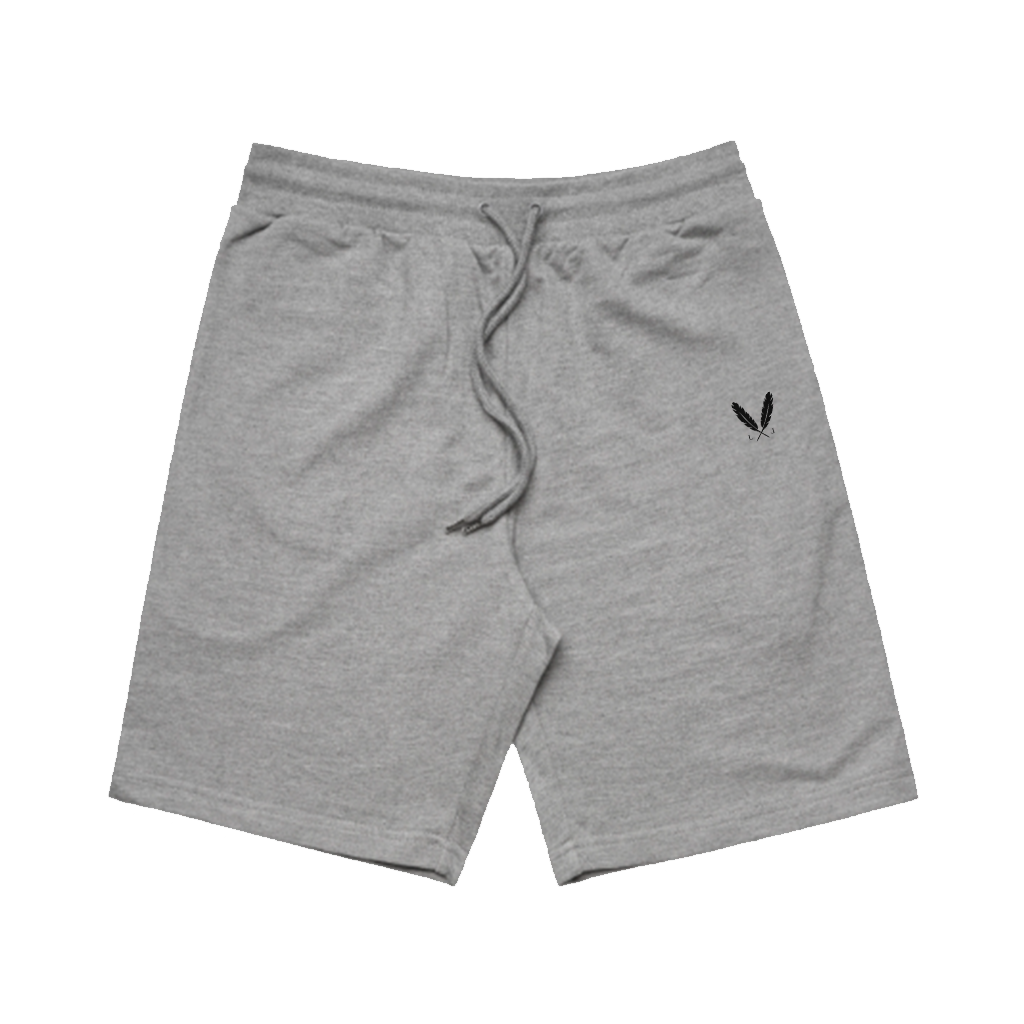 Feather Logo Sweat Shorts - Steel