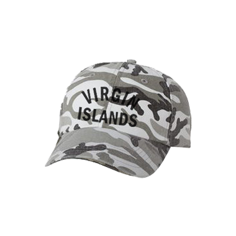 Virgin Islands Dad Hat - White Camo