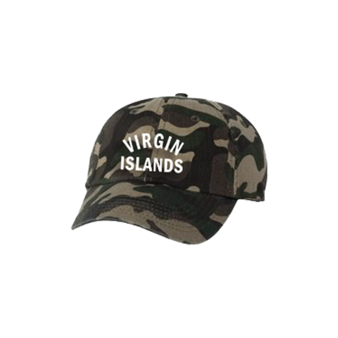 Virgin Islands Dad Hat - Green Camo - Laced Legacy Online
