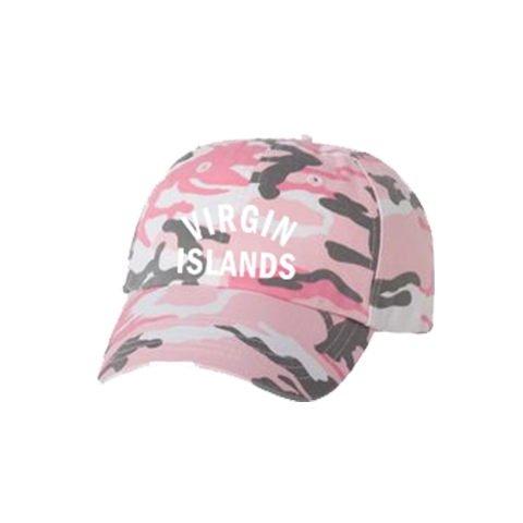 Virgin Islands Dad Hat - Pink Camo - Laced Legacy Online