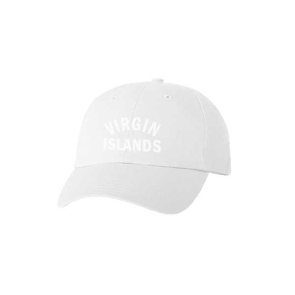 Virgin Islands Dad Hat - White