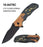 "4.75"" CLOSED SPRING ASSISTED SCORPION 3D TEXTURED KNIFE"