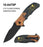 "4.75"" CLOSED SPRING ASSISTED SPIDER 3D TEXTURED KNIFE"