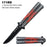 "5"" CLOSED RED SPIDER BUTTERFLY KNIFE"