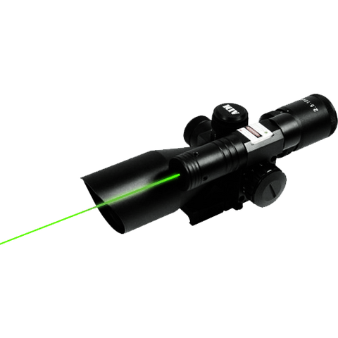 SNIPER 2.5-10X40G COMPACT MIL DOT SCOPE WITH LASER