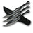 "Set of 3 7"" Throwing Knives FM 525"