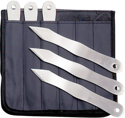 "8 1/2"" Throwing Knives Set of 6 with Case G 320S6"