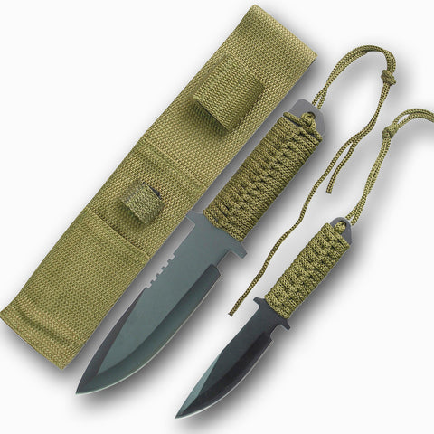 SURVIVOR HK 1034 FIXED BLADE HUNTING KNIFE SET DISC.