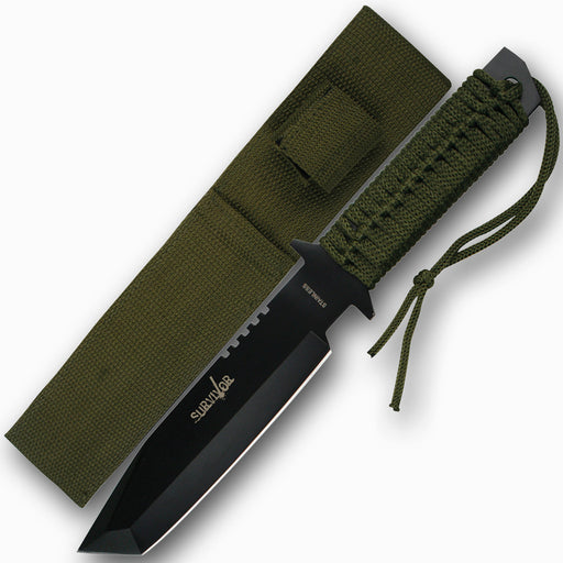 SURVIVOR HK 7524 OUTDOOR FIXED BLADE KNIFE