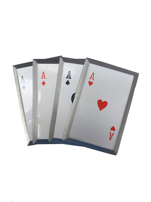 Flush Aces Playing Card Throwers Set of 5 with Pouch