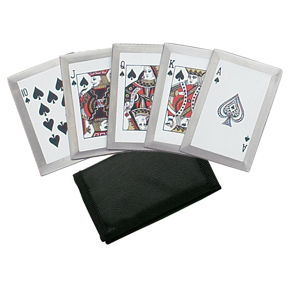 Royal Flush Spades Playing Card Throwers Set of 5 with Pouch