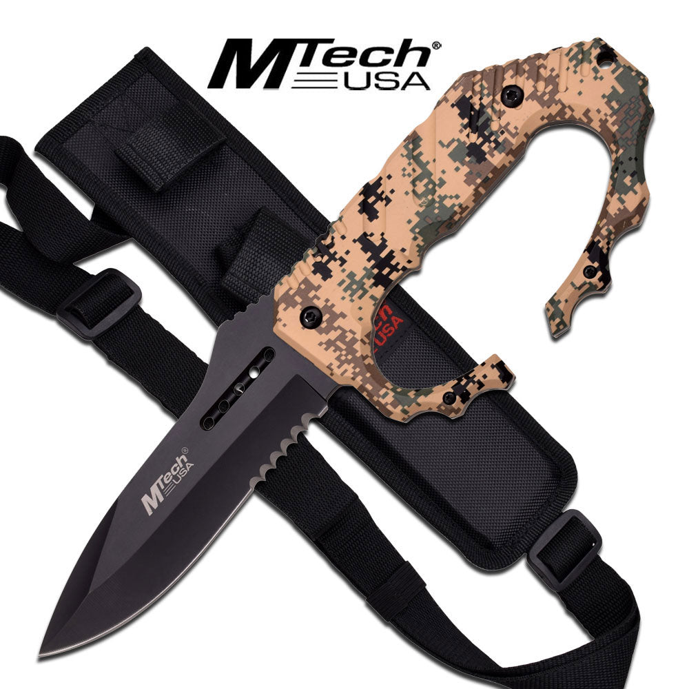 "MTech USA MT-20-51CD FIXED BLADE KNIFE 9.8"" OVERALL"