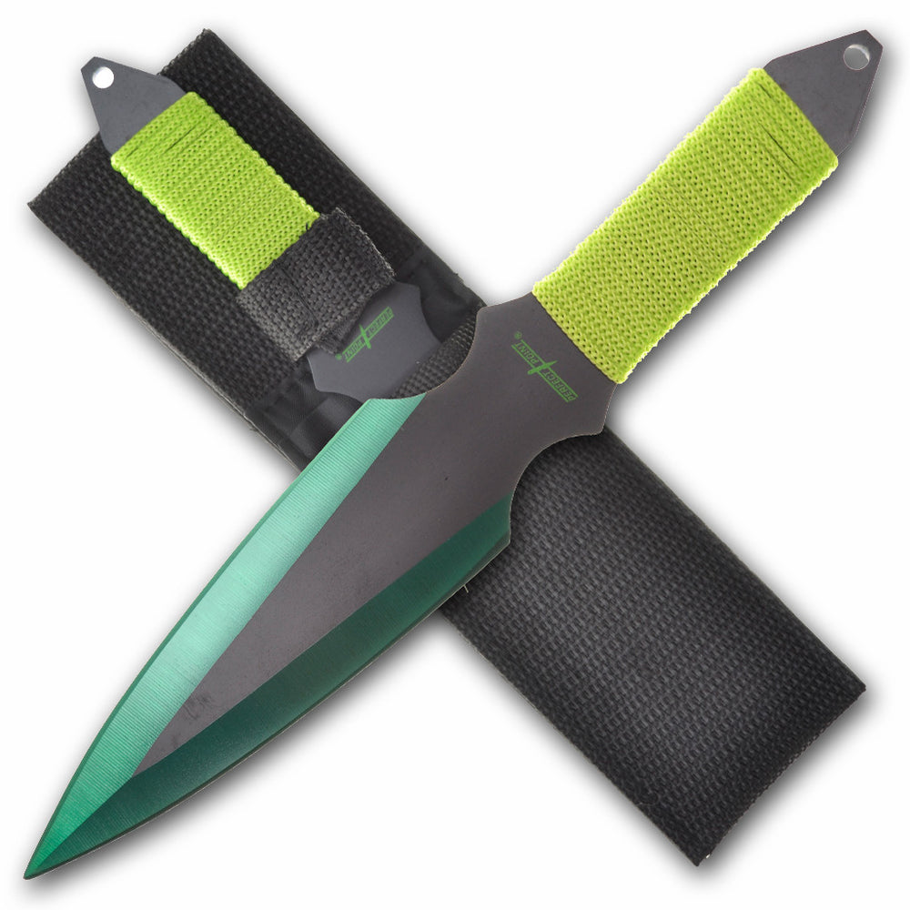 "Perfect Point 9"" Cord Wrap Throwing Knife Set PP 080-2"