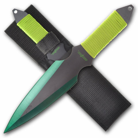 "Perfect Point 9"" Cord Wrap Throwing Knife Set PP 0802"