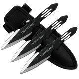Set of 3 - Two Tone Throwing Knives With Sheath