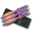 Set of 3 Rainbow Throwing Knives RC 001RB