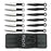 "6.5"" BLACK & SILVER 12pc THROWING KNIFE SET WITH CASE"