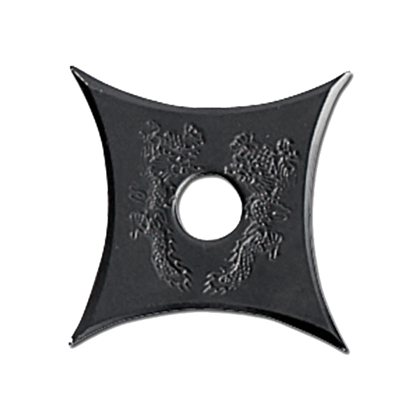 Black Stainless Steel Throwing Star