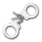 SMITH & WESSON NICKEL PLATED HANDCUFFS S&W-100