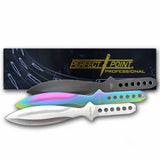 "9"" Tri Color 3 Piece Throwing Knife Set TK 114-3"