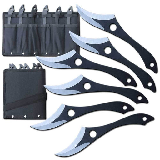 "7"" CRESCENT BLADE THROWING KNIFE SET"