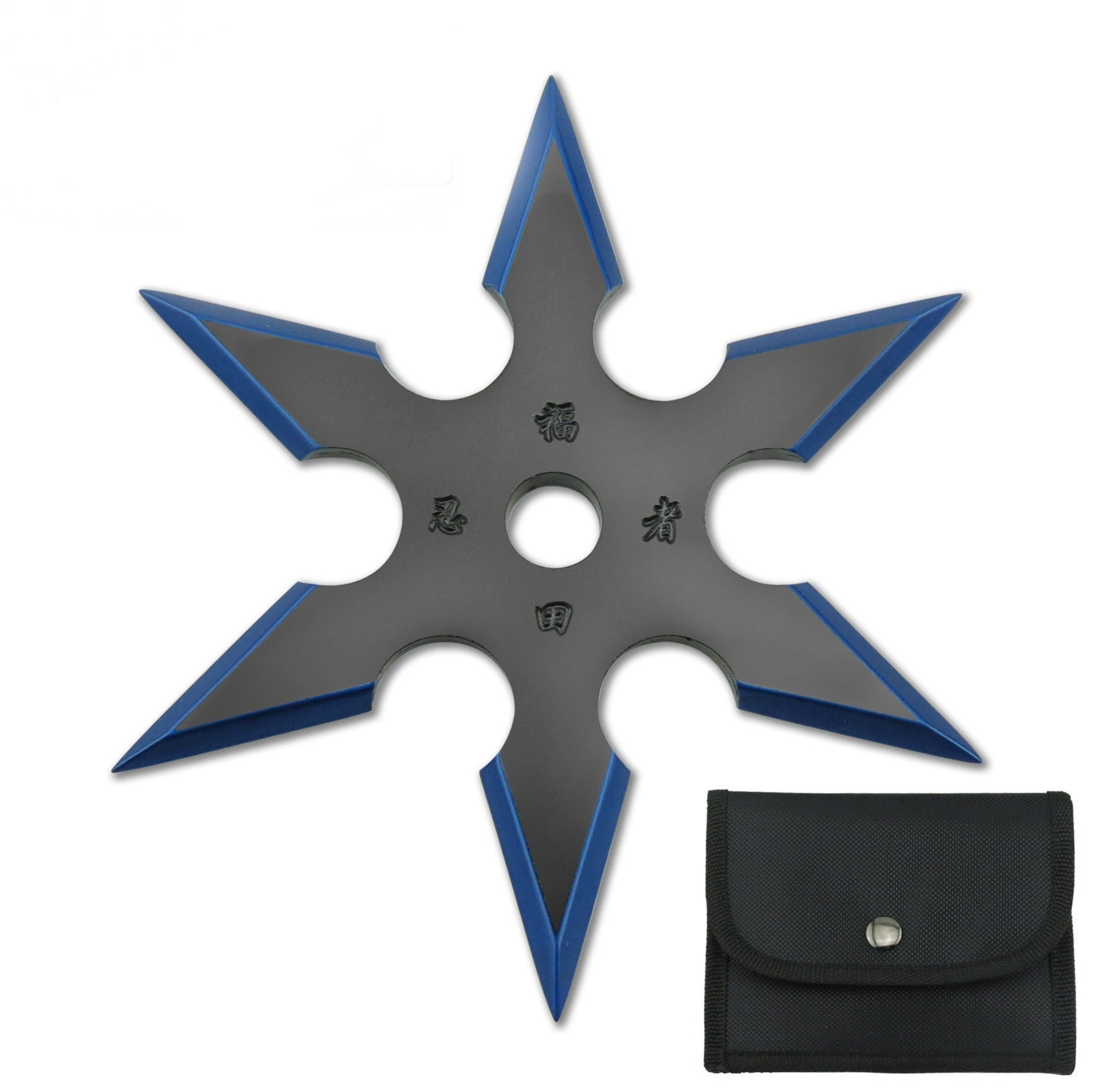 4″ THROWING STAR W/NYLON POUCH WTS-16