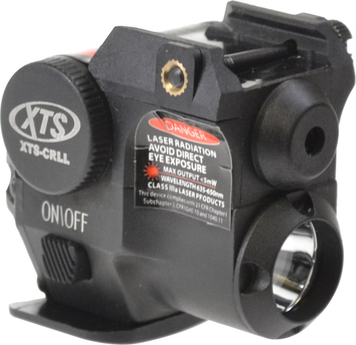 XTS CRLL SUB COMPACT RED LASER AND FLASHLIGHT COMBO