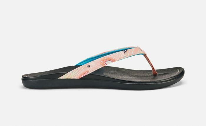 OluKai Ho'Opio sandal dusty pink coral and black 20294
