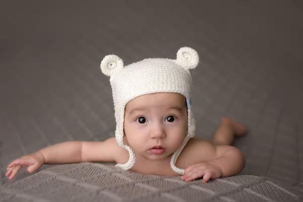 Beba Bean Knit Bear Hat