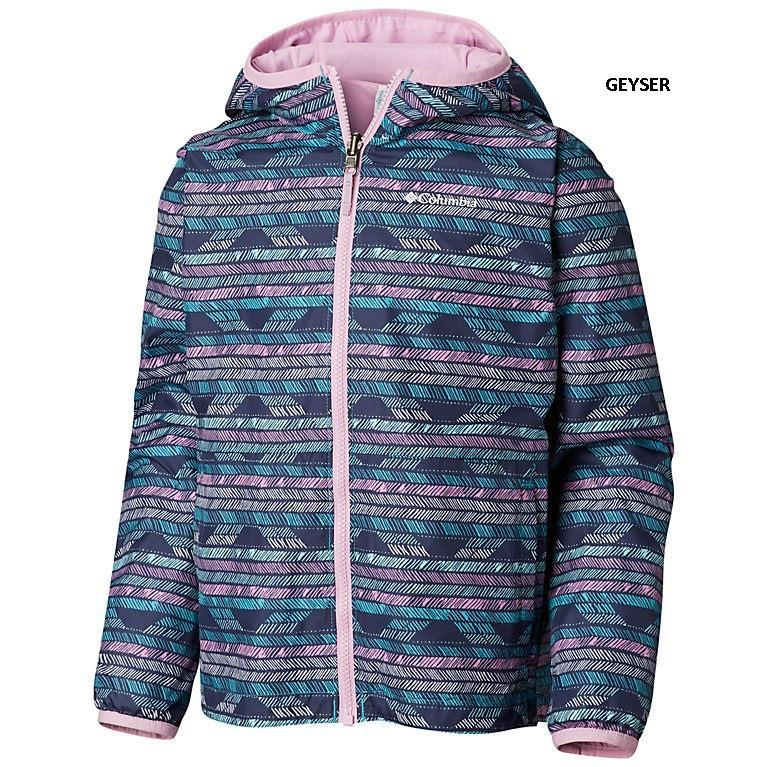 COLUMBIA YOUTH REVERSIBLE PIXEL GRABBER JACKET