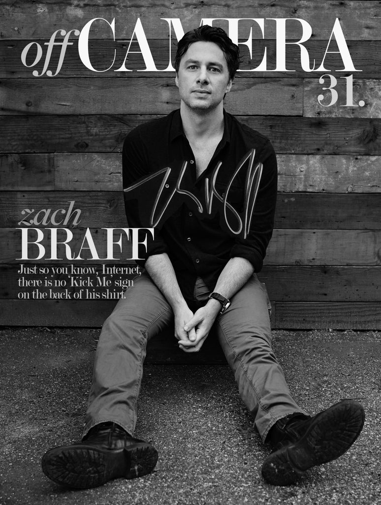 Off Camera Special Edition Signed Issue 31 Zach Braff