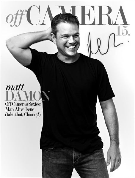 Off Camera Special Edition Signed Issue 015 Matt Damon