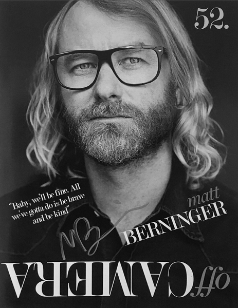 Off Camera Special Edition Signed Issue 052 Matt Berninger