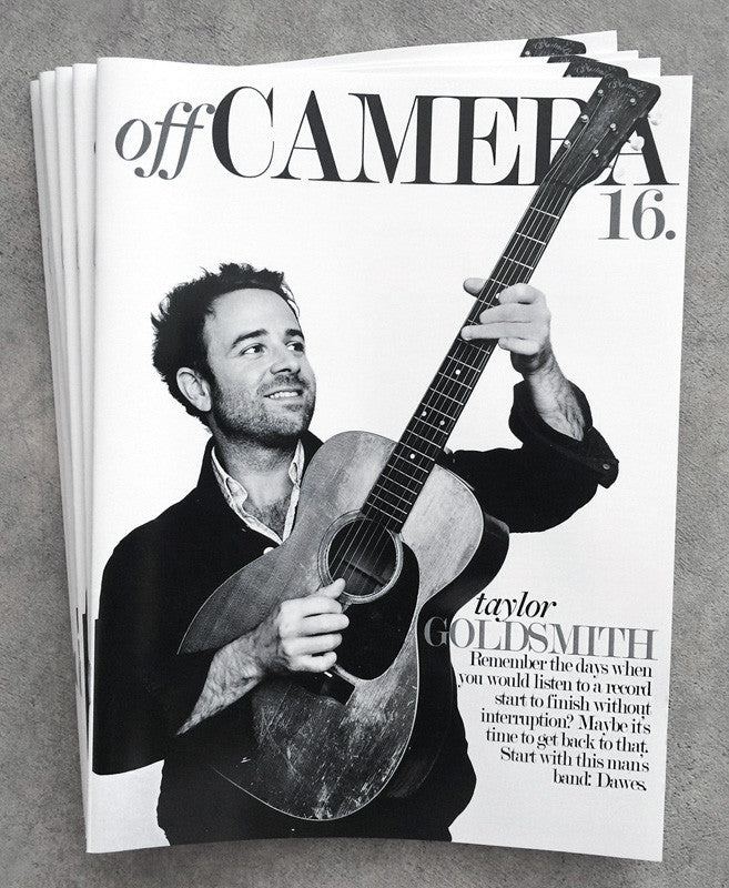 Off Camera Issue 20 Taylor Goldsmith