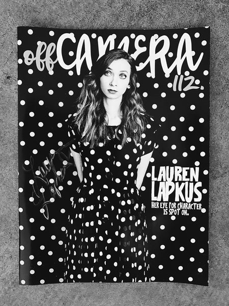 Off Camera Special Edition Signed Issue 112 Lauren Lapkus