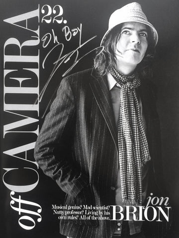 Off Camera Special Edition Signed Issue 22 Jon Brion