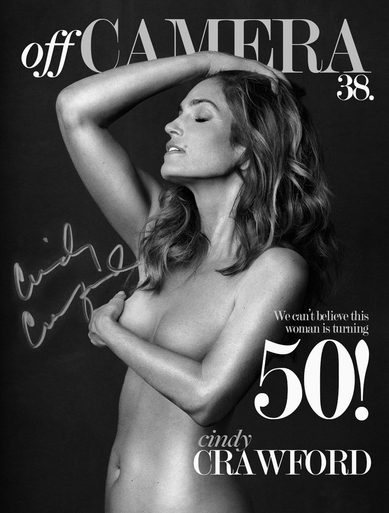 Off Camera Special Edition Signed Issue 38 Cindy Crawford