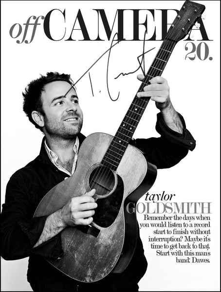 Off Camera Special Edition Signed Issue 20 Taylor Goldsmith