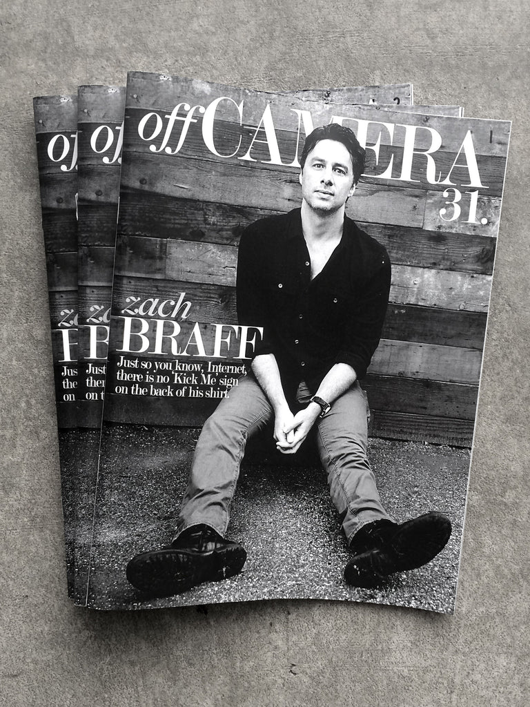 Off Camera Issue 31 Zach Braff