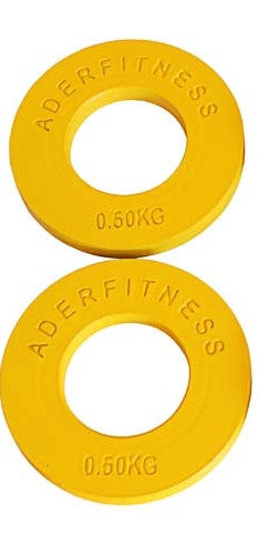 Ader Olympic Fractional Change Plates 0.5kg=1.1 lbs (Pair) - Bumpers & Metal Plates - MaxWOD Fitness