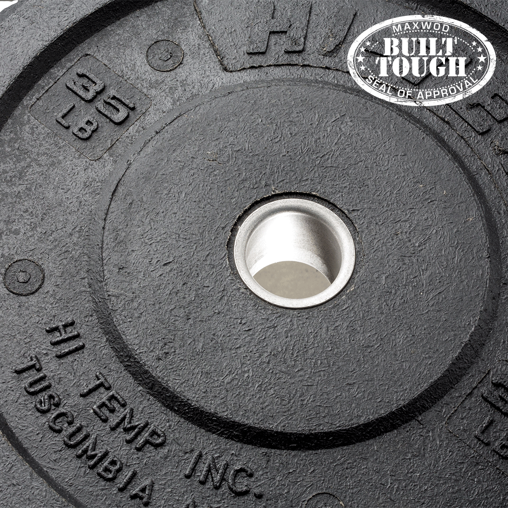 Hi-Temp Rubber Bumper Plates (KG) (Pairs) - Bumpers & Metal Plates - MaxWOD Fitness - 1